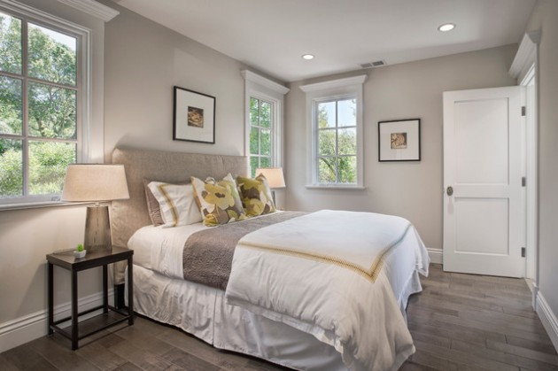 lovely light gray bedroom paint colors | 21 Lovely Traditional Bedrooms For A Warm & Cozy Atmosphere