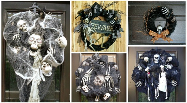 15 Really Spooky Halloween Wreath Designs To Adorn Your Front Door
