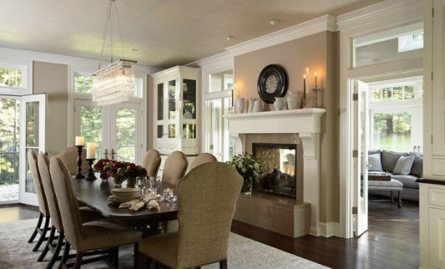 14 Sophisticated Dining Rooms With Beautiful Fireplace