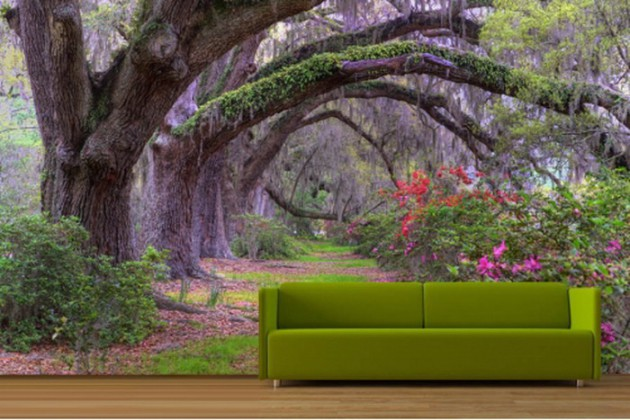 19 Divine Nature-Themed Wallpapers For Your Dream Living Room