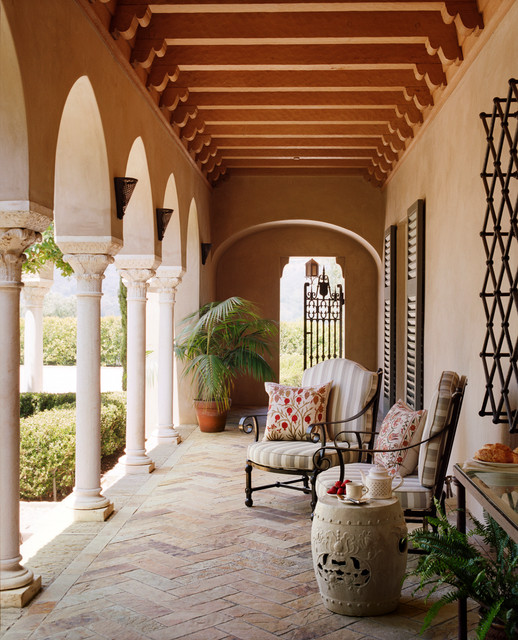 15 Spectacular Rustic Exterior Designs That You Must See: 15 Stunning Mediterranean Porch Designs For The Ultimate