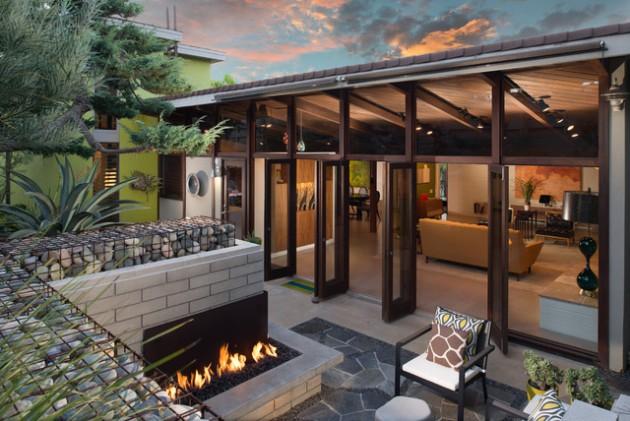 15 Stunning Mid-Century Modern Patio Designs To Make Your ... on Modern Backyard Patio id=76886