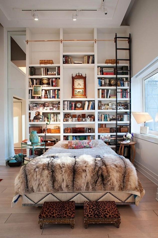 16 Most Creative Bookshelf Headboard Design Ideas