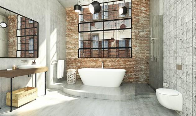 16 Beautiful Dream Bathroom Ideas With Industrial Influence