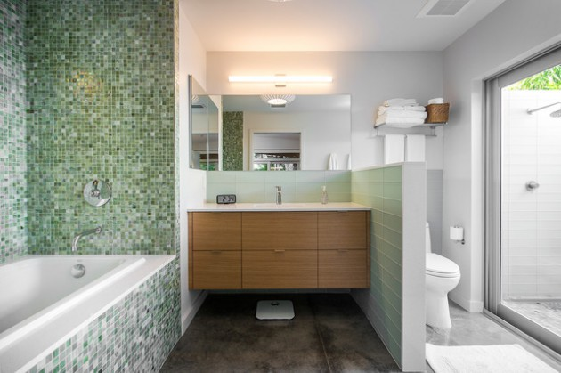 16 beautiful mid century modern bathroom designs that are for Mid century modern bathroom design