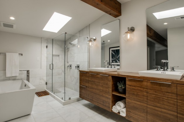 16 Beautiful Mid-Century Modern Bathroom Designs That Are Simply Flawless