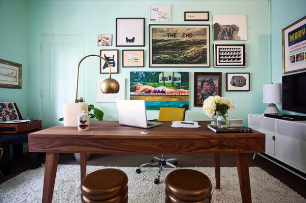 16 spectacular mid century modern home office designs for a retro feel - Mid Century Modern Home Office