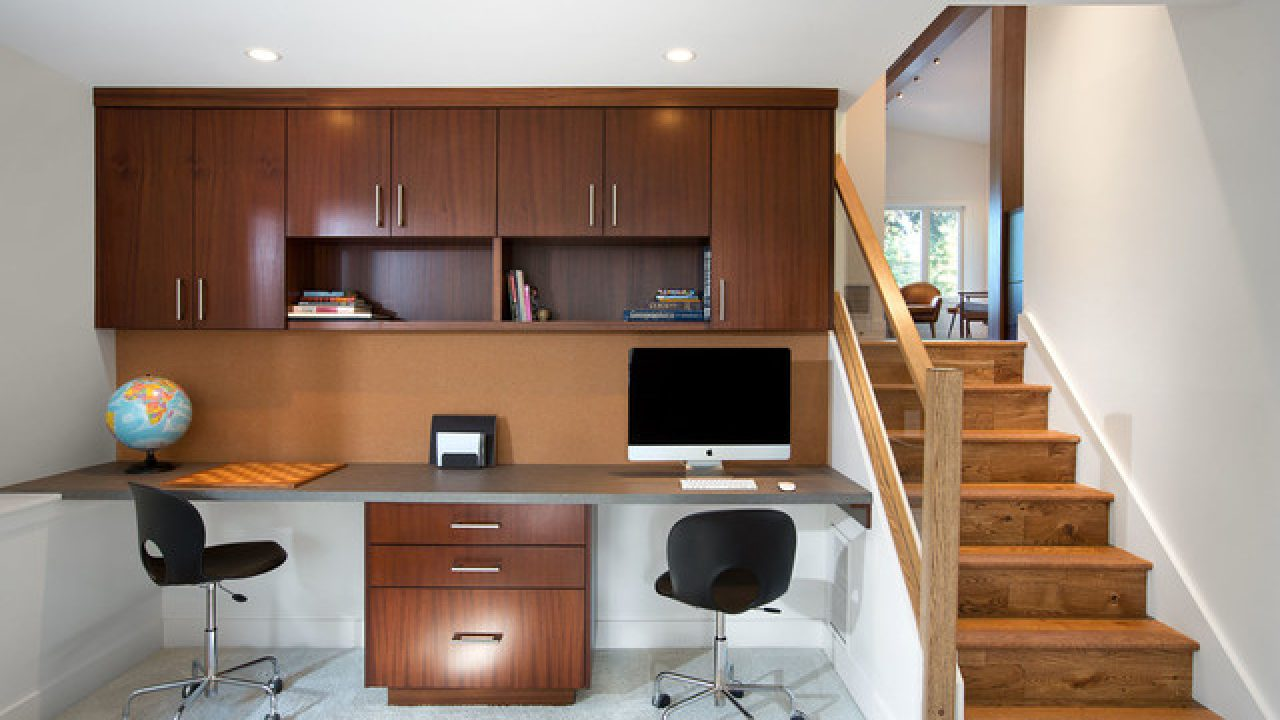 32 Spectacular Mid Century Modern Home Office Designs For A Retro Feel