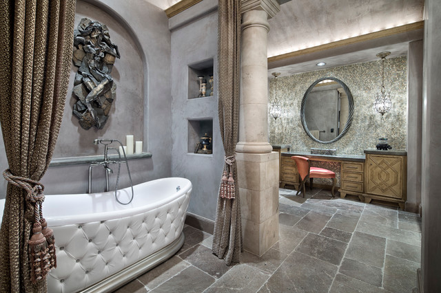 17 Astounding Mediterranean Bathroom Designs That Are Sparkling With ...