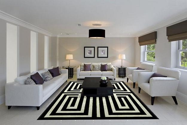 17 Fabulous Black & White Living Room Design Ideas