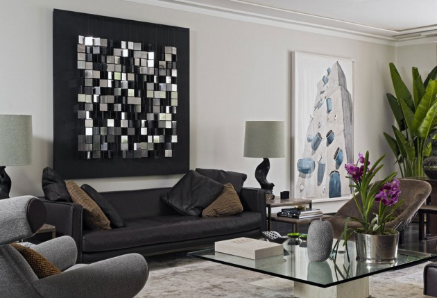 contemporary wall art ideas to give a lively spirit to the living room