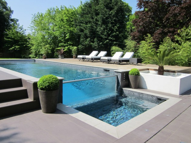 18 Mesmerizing Contemporary Swimming Pool Designs That