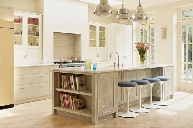 wonderful diy kitchen island decorations ideas real house design | 18 Practical Kitchen Island Designs With Open Shelving