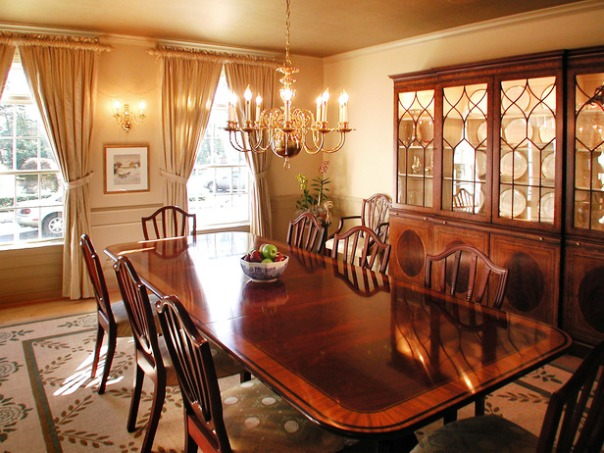 glamorous dining rooms in victorian style
