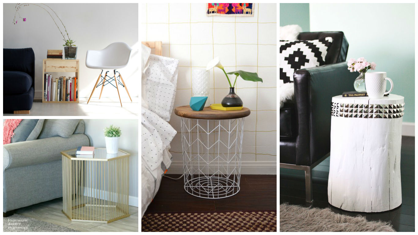 10 fascinating diy side table designs to spice up the whole