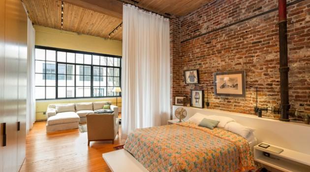 17 Charming Bedroom Designs With Brick Walls
