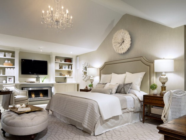 14 gorgeous master bedroom designs with beautiful fireplace for Pretty bedroom designs
