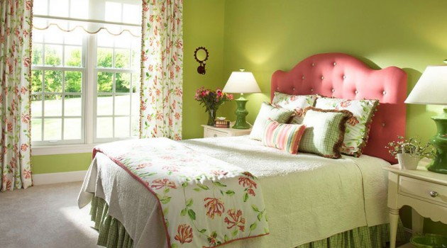 Green & Pink In The Bedroom- 17 Fascinating Ideas