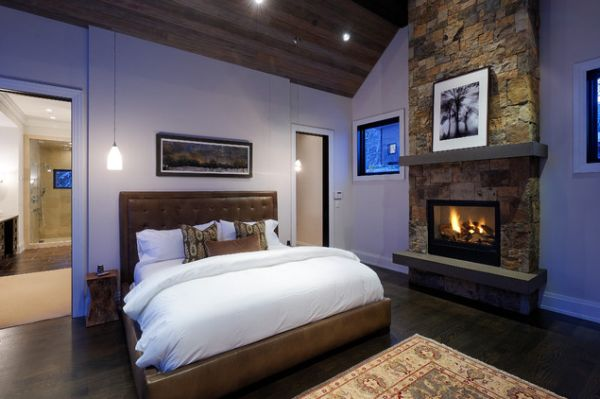gorgeous master bedroom designs with beautiful fireplace