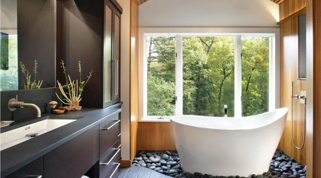 Rocks In The Bathroom- 12 Beautiful Design Ideas