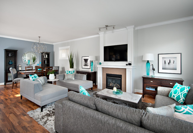 18 extravagant interiors with turquoise accents that will - Salon piso moderno ...
