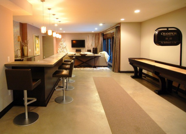 18 Really Cool Ideas How To Decorate Your Contemporary Basement