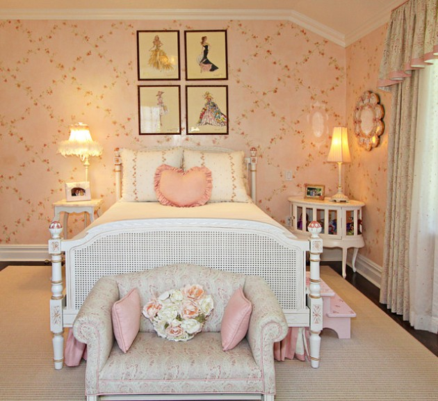 18 Delightful Traditional Girl's Bedroom Design Ideas