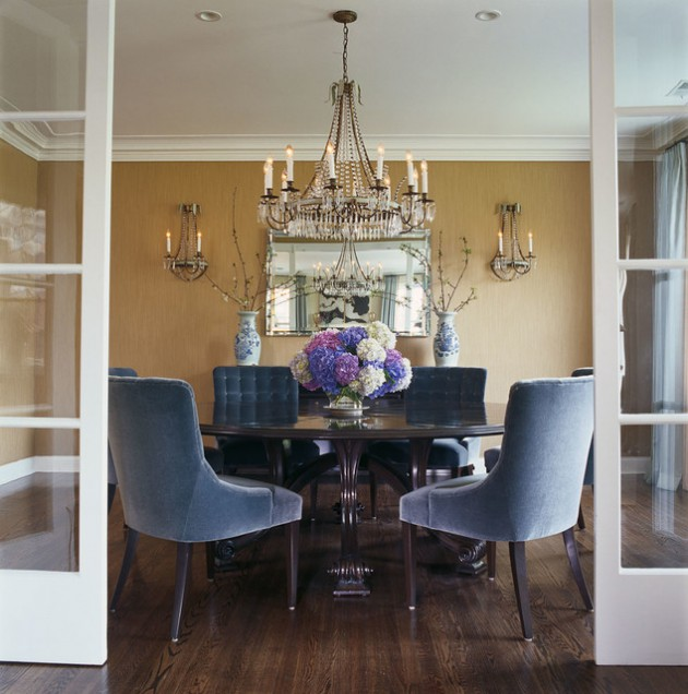 Beautiful Dining Room Furniture: 20 Beautiful Dining Rooms With Velvet Chairs