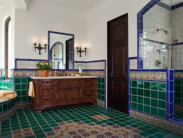 19 Inspirational Ideas To Decorate The Bathroom With Vintage Tiles