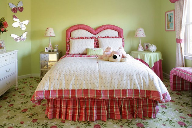 Green & Pink In The Bedroom  17 Fascinating Ideas