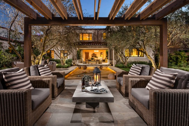 16 Bespoke Mediterranean Patio Designs For Your Backyard on Terraced House Backyard Ideas id=79168