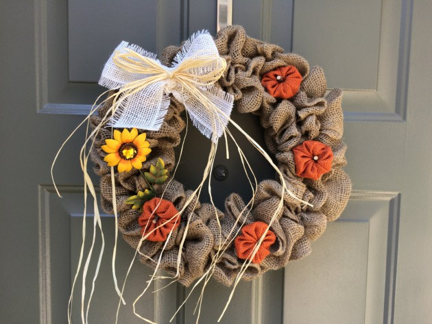 16 Wonderful Handmade Thanksgiving Wreath Designs To Decorate Your Front Door This Fall