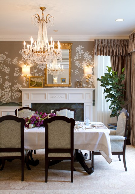 19 Gorgeous Wallpaper Ideas For Your Beautiful Dining Room