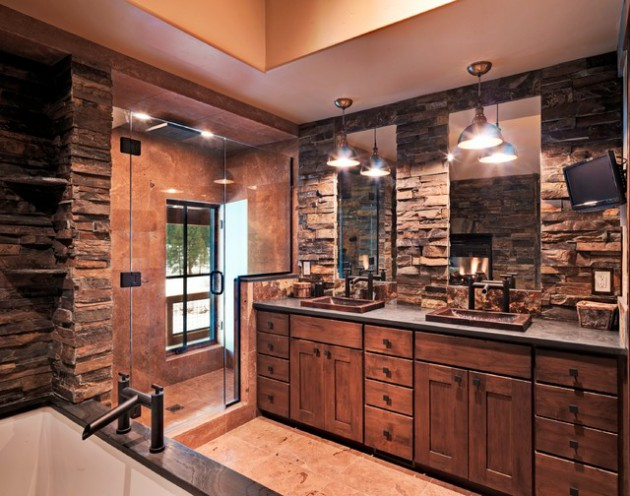 17 Amazing Rustic Bath Designs That Will Make You Feel Comfortable