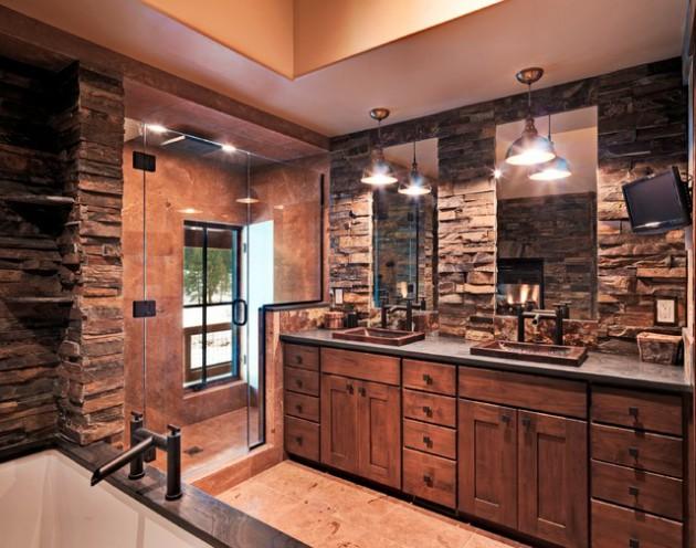 17 Amazing Rustic Bath Designs That Will Make You Feel