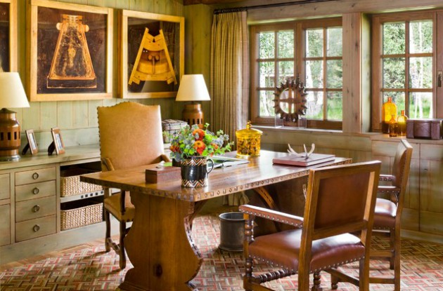 17 Inspiring Rustic Home Office & Study Designs That Will Inspire You