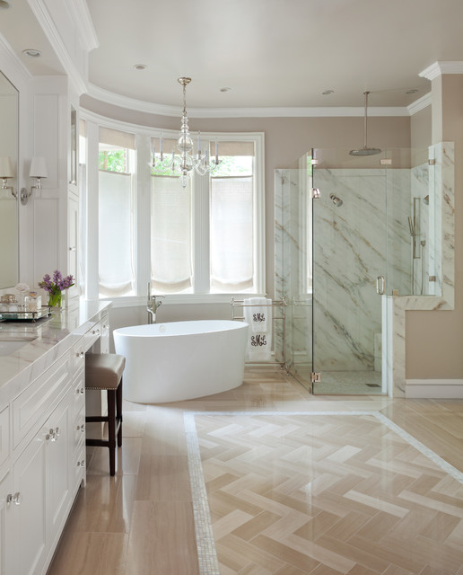 18 Stylish Traditional Bathroom Designs You're Going To Be Very Fond Of