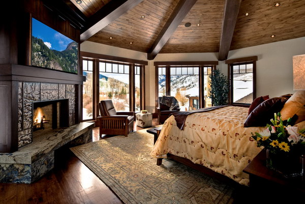 14 gorgeous master bedroom designs with beautiful fireplace Master bedroom with fireplace images