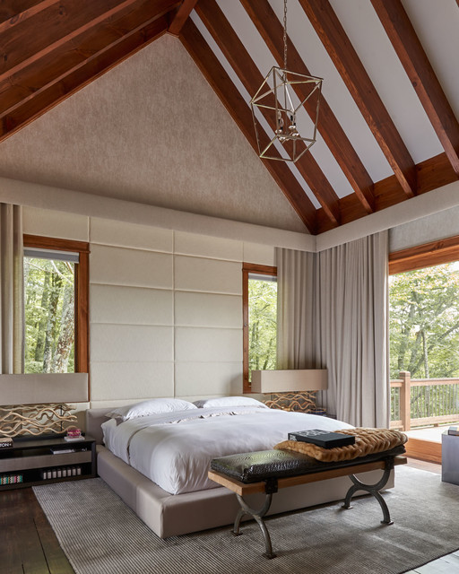 20 Bedroom Designs With Vaulted Ceilings: 19 Magical Rustic Bedroom Interior Designs That Will Relax You