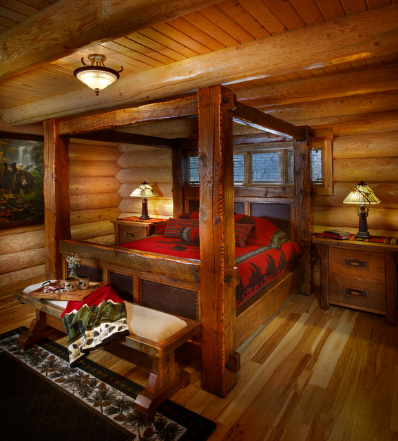 Rustic Cabin Living Room: 19 Magical Rustic Bedroom Interior Designs That Will Relax You