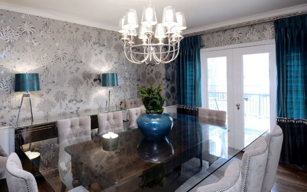 19 gorgeous wallpaper ideas for your beautiful dining room for Beautiful room wallpaper