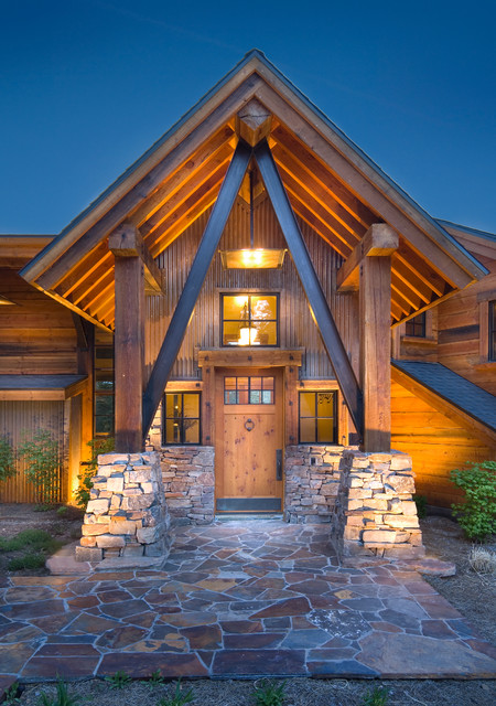 20 fantastic rustic entrance designs for a pleasant for Design your house
