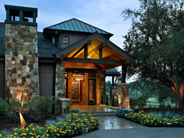 20 Fantastic Rustic Entrance Designs For A Pleasant