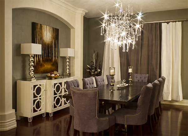20 beautiful dining rooms with velvet chairs for Beautiful dining furniture