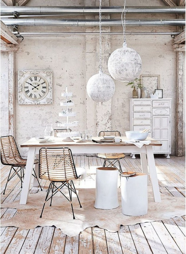 20 stunning shabby chic dining room design ideas - Shabby chic dining rooms ...