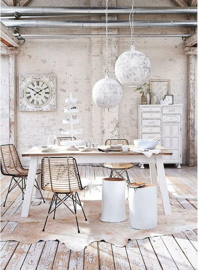 Living Room Art: 20 Stunning Shabby Chic Dining Room Design Ideas