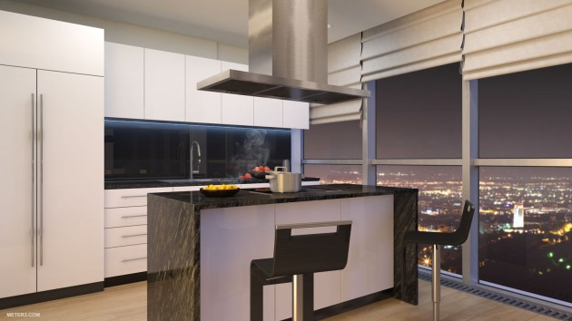 16 Imposant Penthouse Kitchen Design That Certainly Will Steal The Show