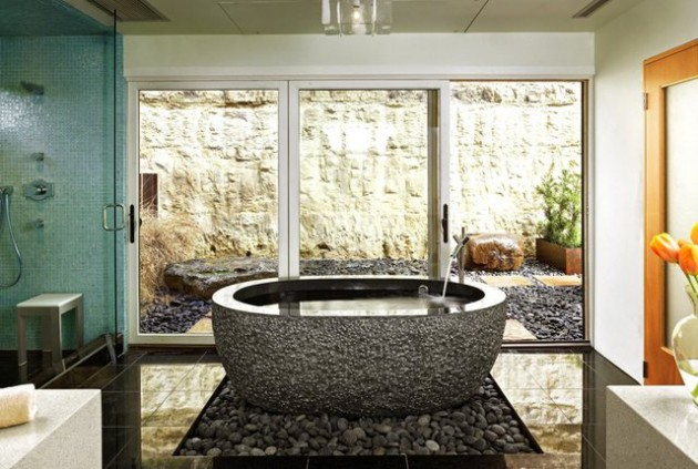 Rocks In The Bathroom  12 Beautiful Design Ideas