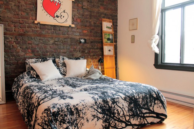17 Charming Bedroom Designs With Brick Walls
