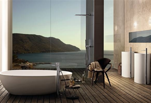 fascinating bathroom ocean view | 10 Astonishing Bathrooms With Most Impressive Ocean View